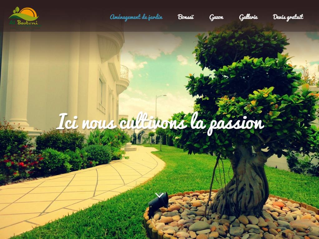 Témoignage webmaster site web aménagements d'extérieurs Tunisie