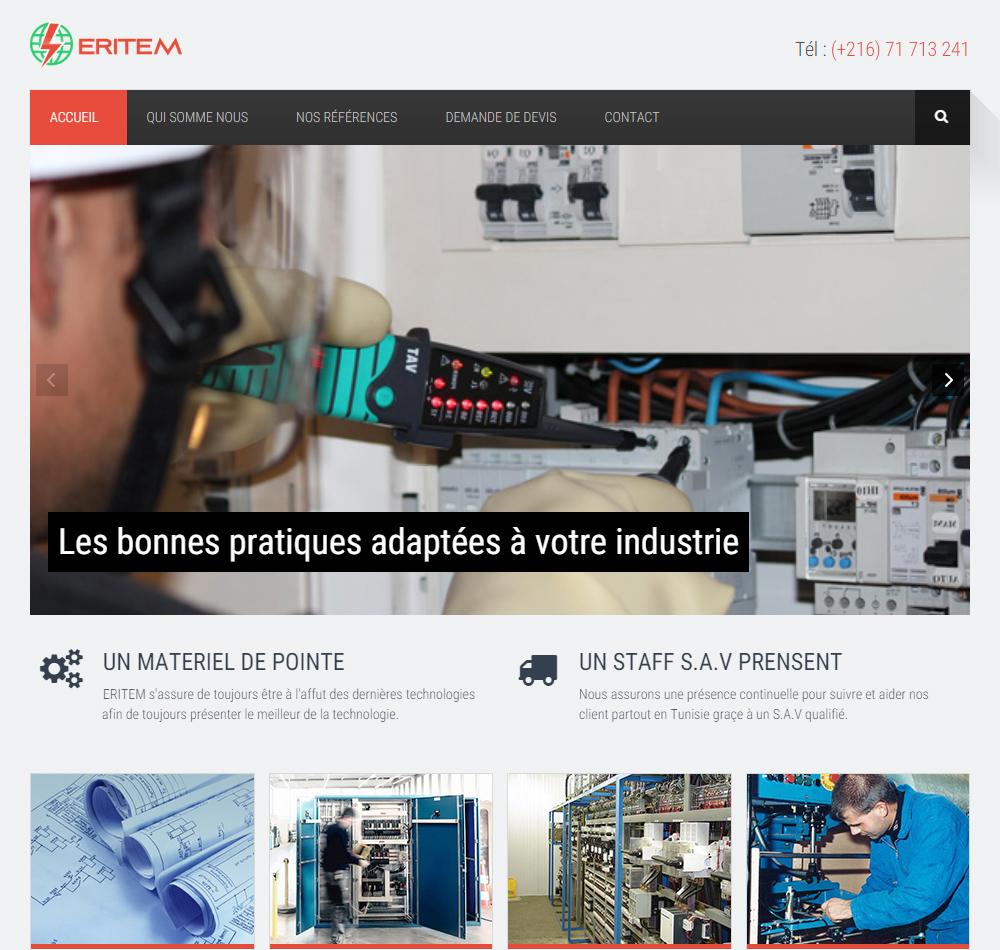 Témoignage webmaster site web câblage et armoires électriques Tunisie